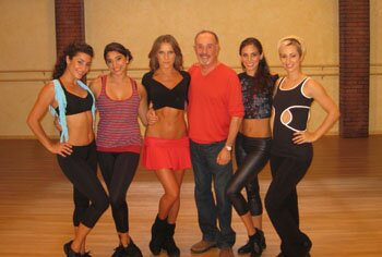 Cal Pozo with dancers from the 'Dancing with the Stars' fitness DVD.