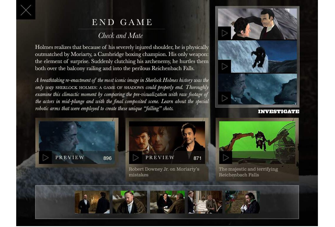 'Sherlock Holmes: A Game of Shadows' movie app