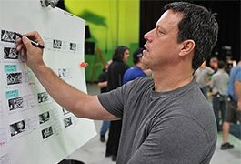Director Gavin Hood on the set of 'Ender's Game'