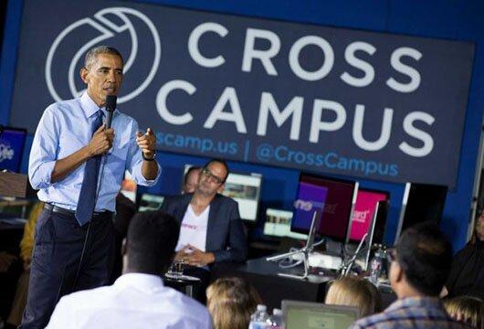 Obama addressing net neutrality issue in Santa Monica, Calif.