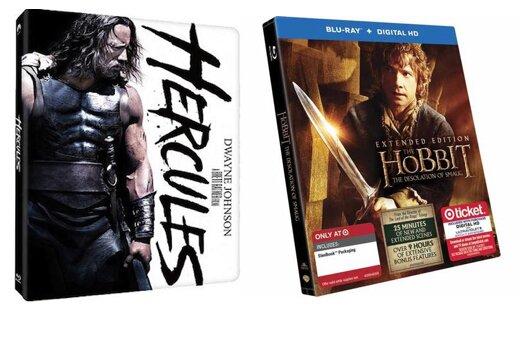 Walmart's 'Hercules' and Target's 'Hobbit' steelbooks