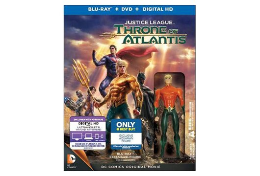 Best Buy's 'Justice League: Throne of Atlantis' with Aquaman figurine