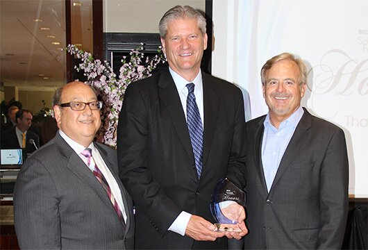 (L-R): EMA's Mark Fisher, Redbox's Mark Horak and EMA Chairman Marty Graham of Rentrak