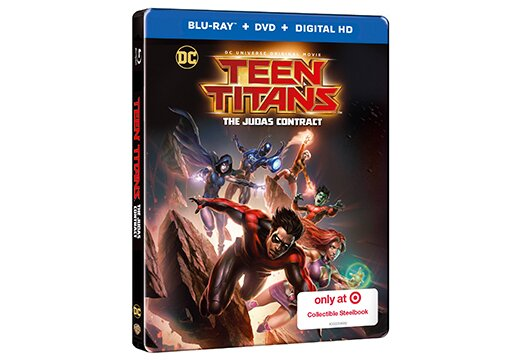 Target 'Teen Titans: The Judas Contract' Steelbook Blu-ray